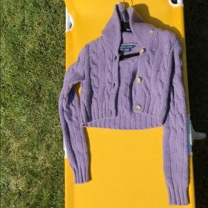Ralph Lauren Cashmere/wool crop cardigan